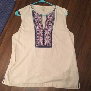 J.Crew embroidered tank
